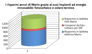 Quanto risparmia Mario con fotovoltaico