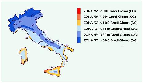 Mappa Italia Conto termico 2018
