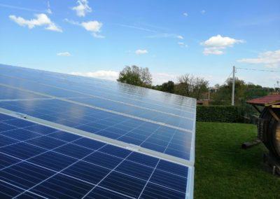 vista impianto fotovoltaico